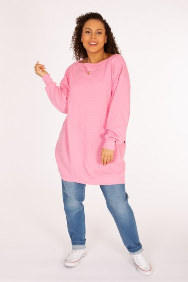 Comfy Oversize Sweater Eco Pink