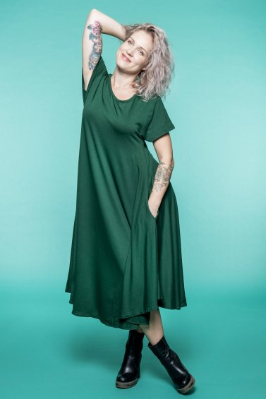Summer Dream Dress Forest Green
