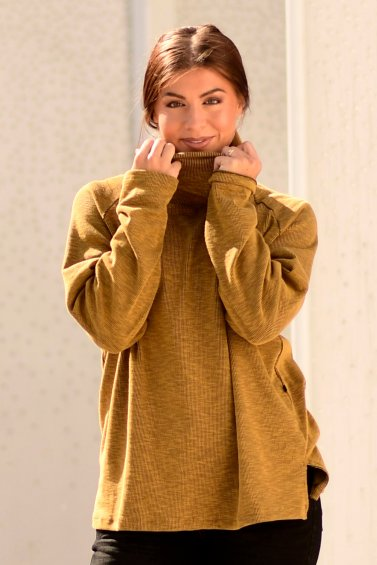 Dana Polo Sweater Sunglow Base