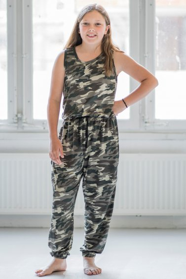 Kids Pockety Jumpsuit Camo