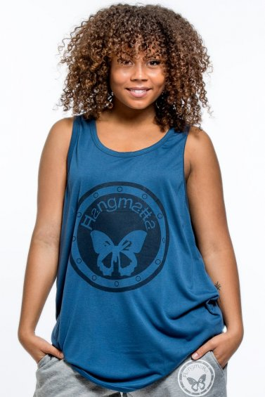 Sport Loose top Blue Logo