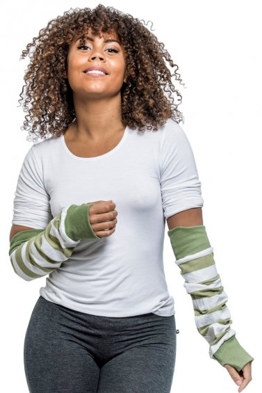 Arm Warmer Cream Green Broad