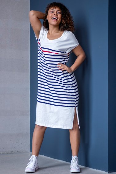 Koster Dress Blue Stripe