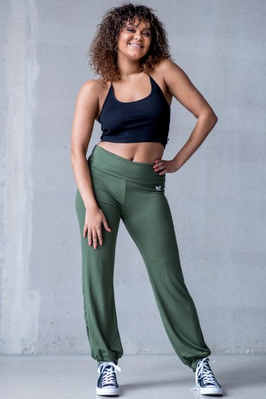 Yoga Stretch Army Green
