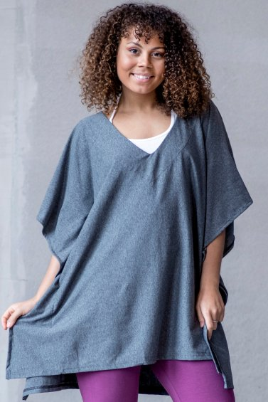 Poncho Cousco Eco Dark Grey