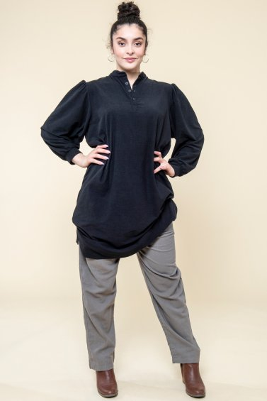 Nago Shirt Dress Black
