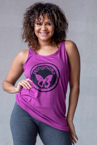 Loose Fit Top Logo Eco Purple