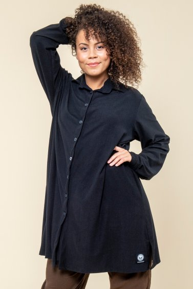 Long Shirt Plain Black