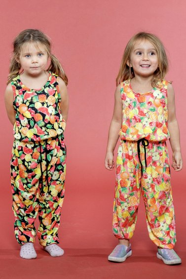 Kids Pockety Jumpsuit Coral Cocktail