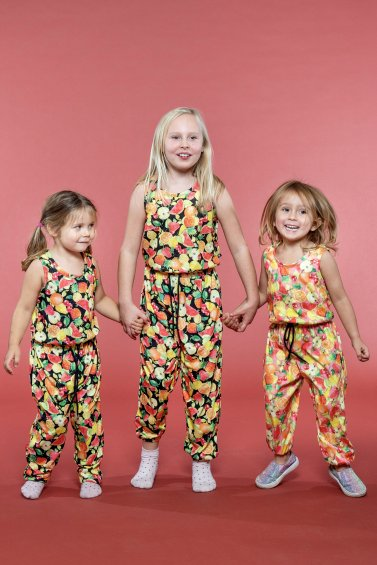 Kids Pockety Jumpsuit Black Cocktail