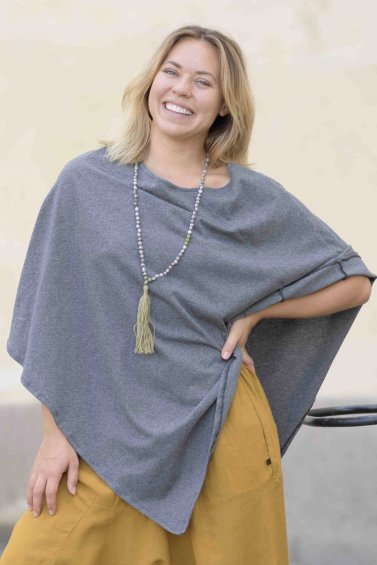 Poncho Cape Eco Dark Grey