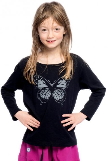 Butterfly Kids Long Sleeve Eco Black
