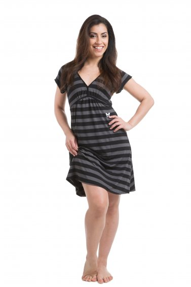 Mia Dress Black Grey