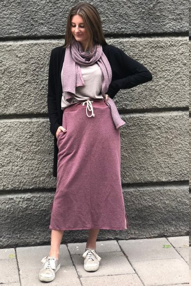 Sweat Skirt Long Dusty Pink+ Cozy Bag