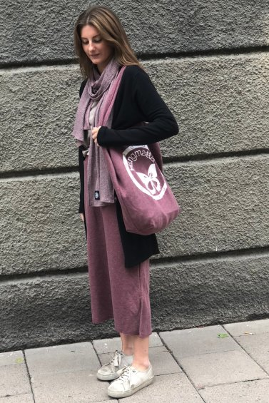 Sweat Skirt Long Dusty Pink+Cozy Bag Dusty Pink