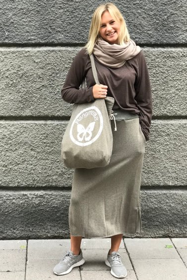 Sweat Skirt Long Army Green+Cozy Bag Army Green