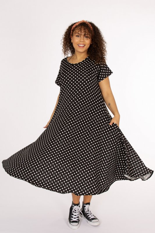 Ballerina Dot Dress Black Base