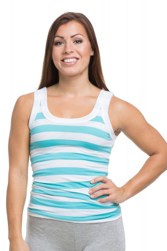 Flex Top White Blue