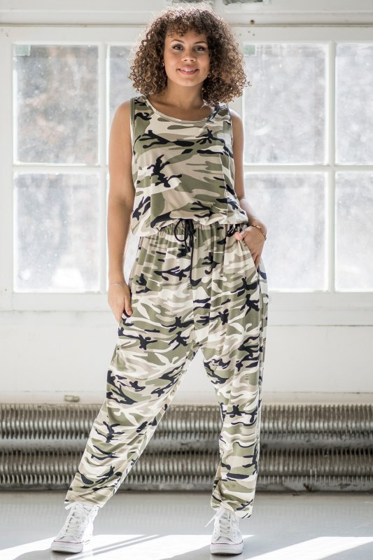 Pockety Jumpsuit Camo