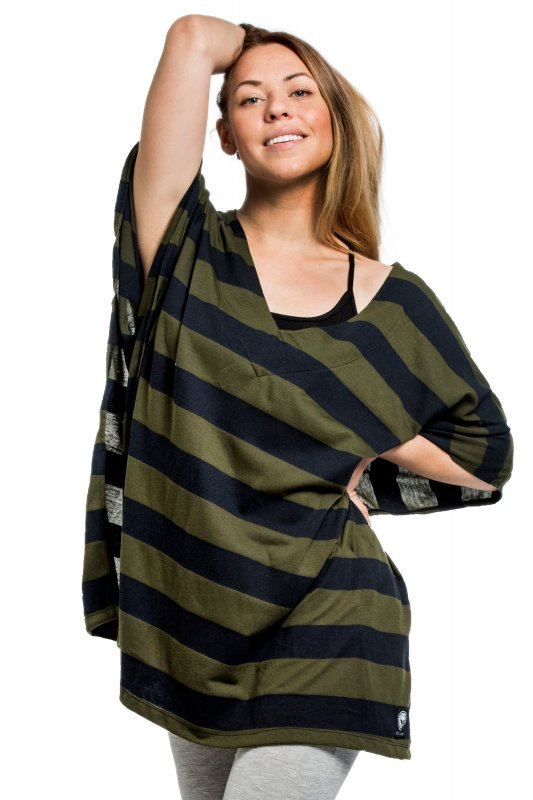 Poncho Cousco Black Green Broad