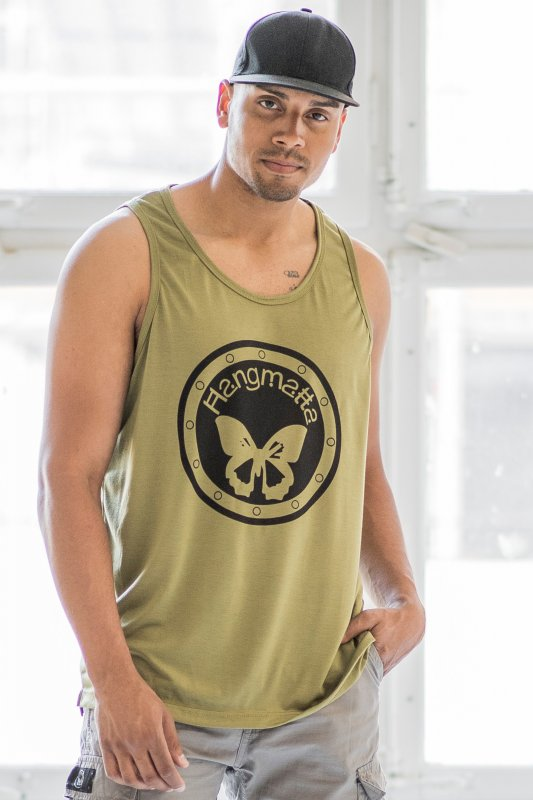 Loose Fit Top Logo Man Eco Army Green