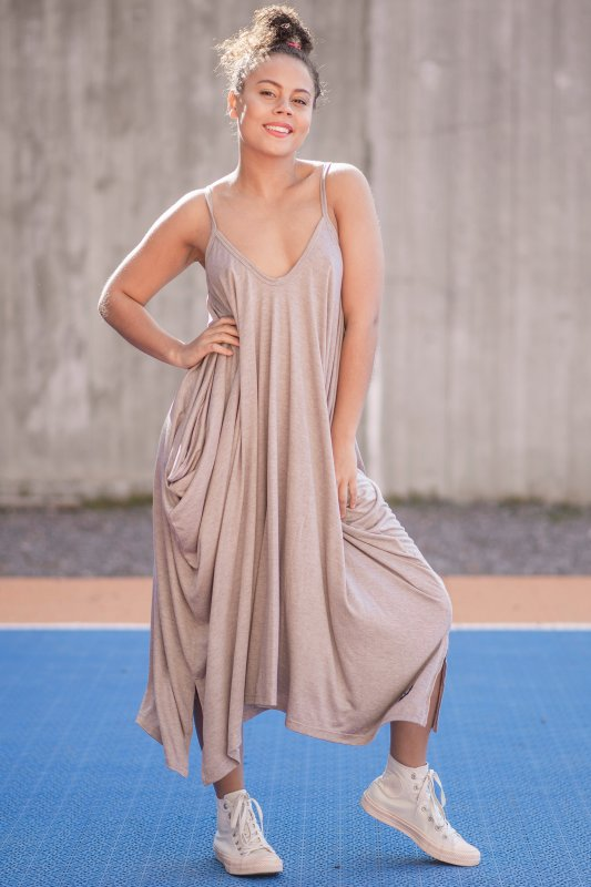 Harem Dress Eco Warmgrey
