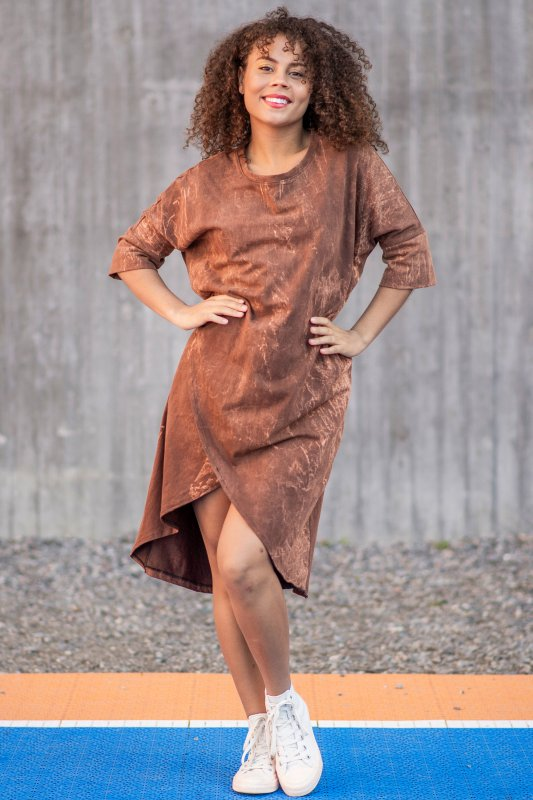 Gabby Dress Marble Brown