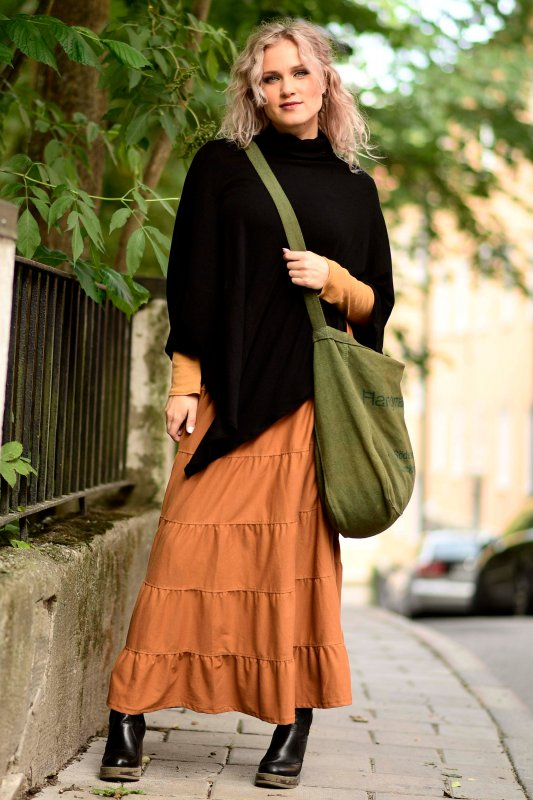 Boho Skirt Eco Rust