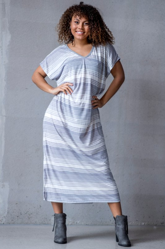 Iris Dress White Light Grey