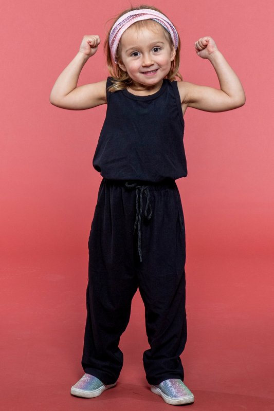 Kids Pockety Jumpsuit Black