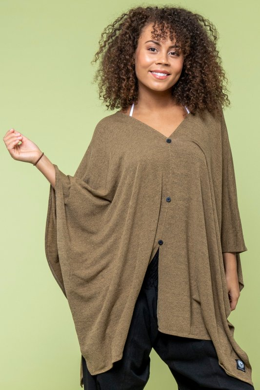 Butterfly Poncho Coffee