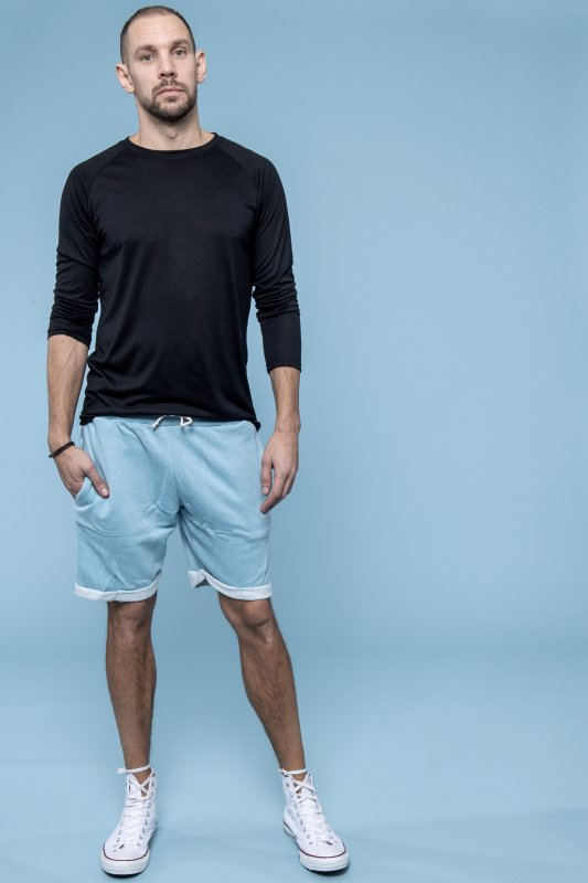 Sweat Shorts Man Light Blue
