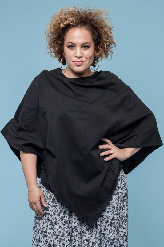 Poncho Cape Eco Black