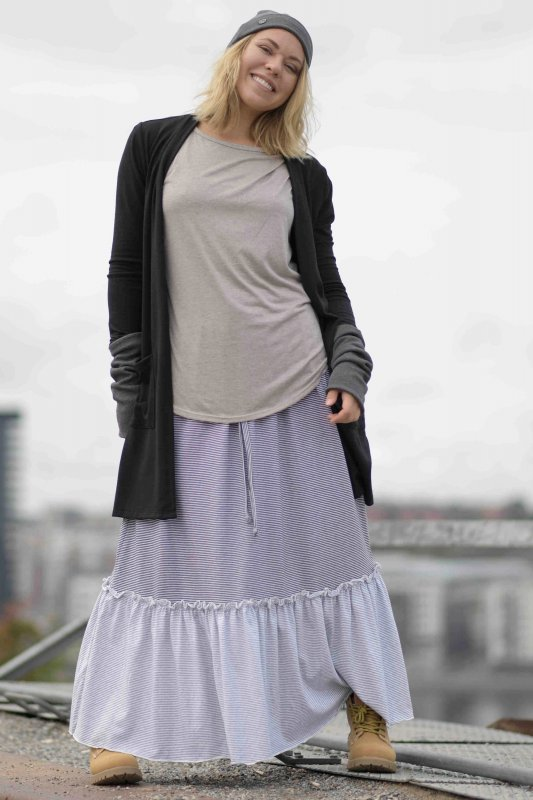 Ellen Long Skirt Dark Top