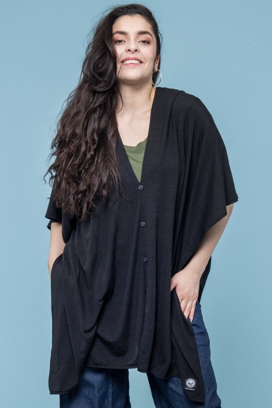 Butterfly Poncho Black