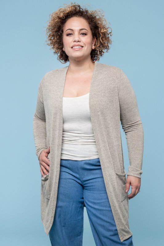 Eta Cardigan Warm Grey