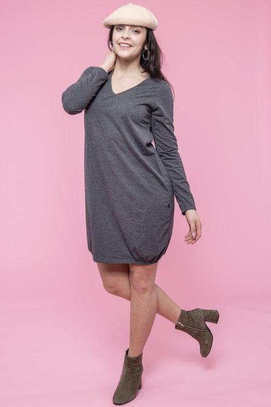 Victoria Dress Eco Grey