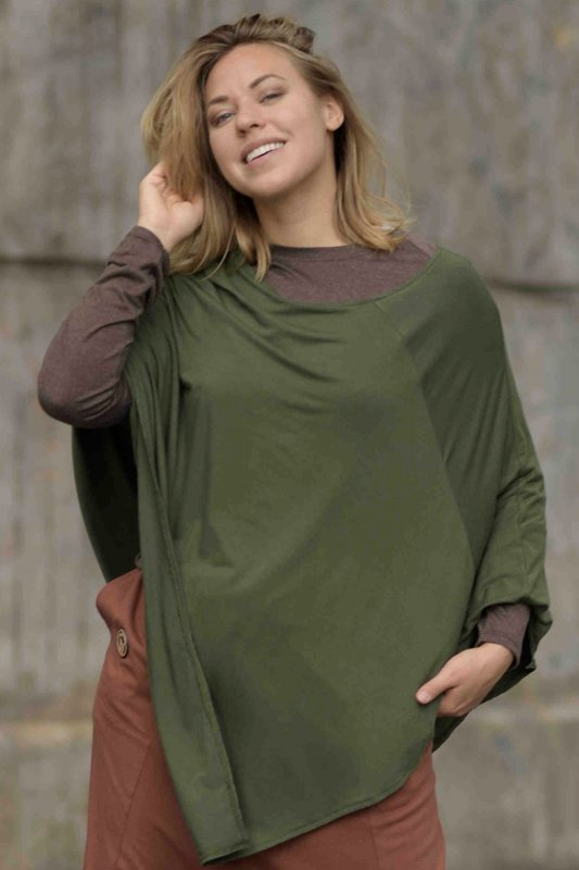 Poncho Cape Army Green