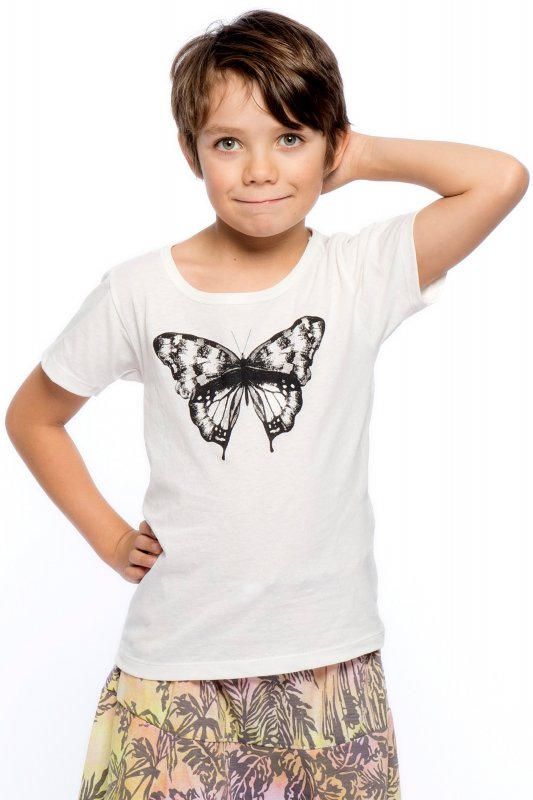 Butterfly Kids T-shirt Eco Off White