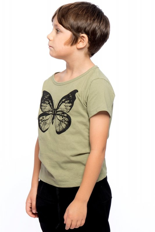 Butterfly Kids T-shirt Eco Green