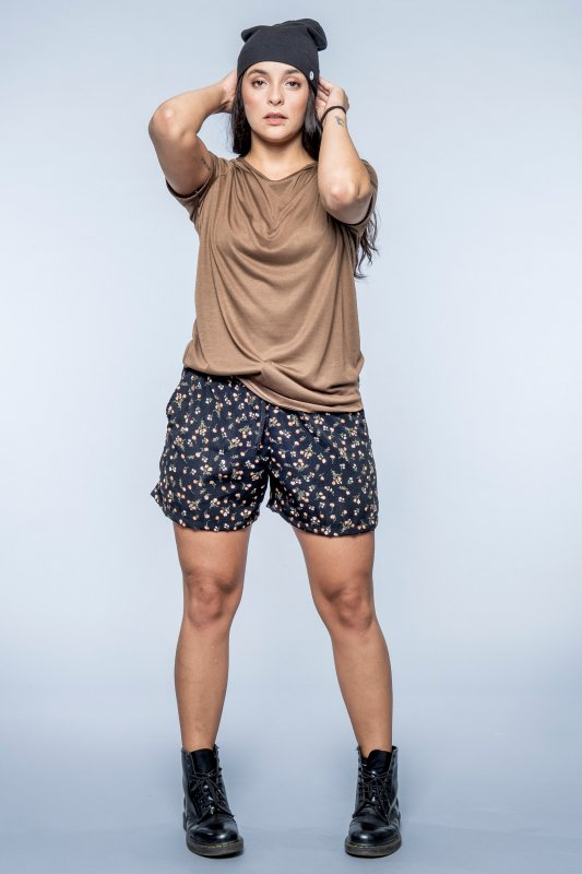 Okapi Shorts Black Flower