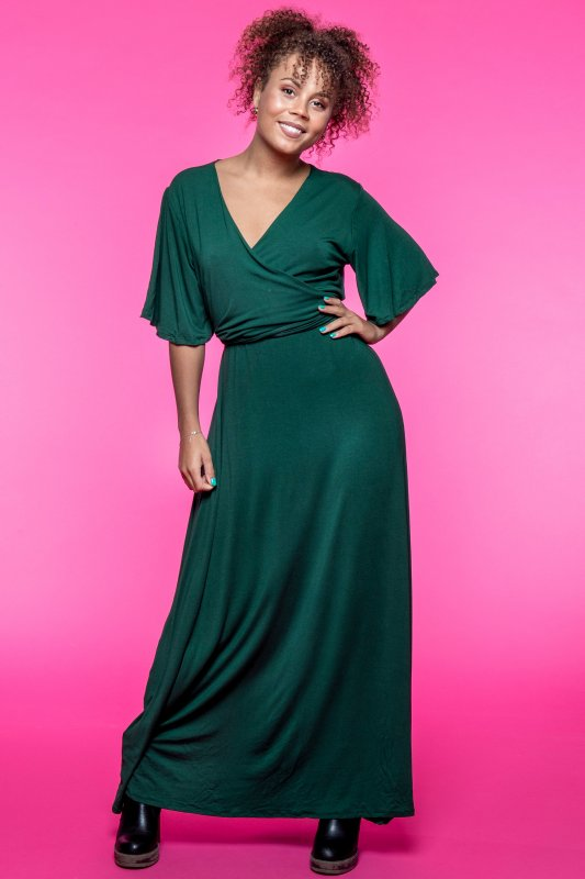 Alice Dress Forest Green