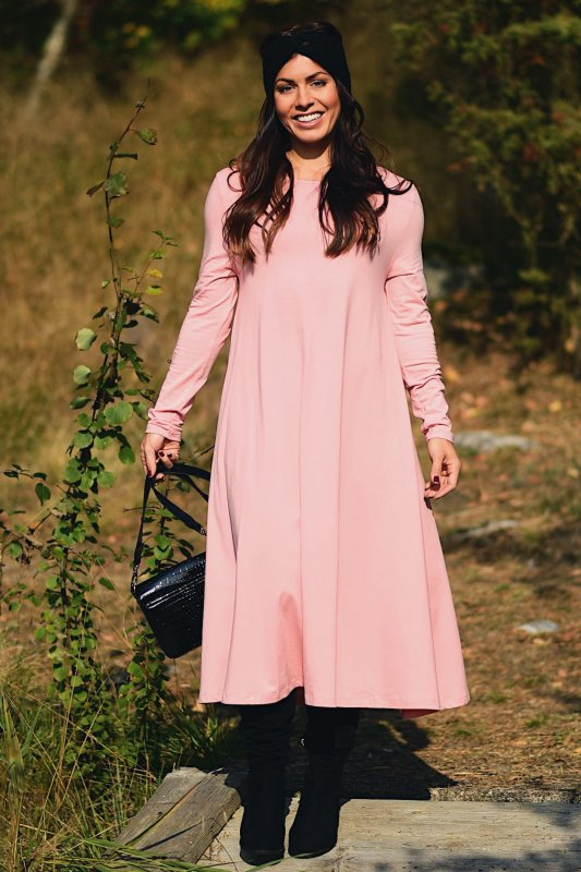 Belle Dress Longsleeve Pink