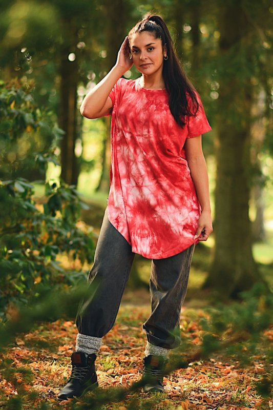 Bianca Batik Shirt Red Base