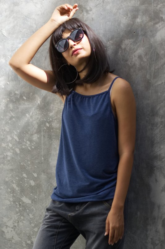 Niki Top Denim Blue