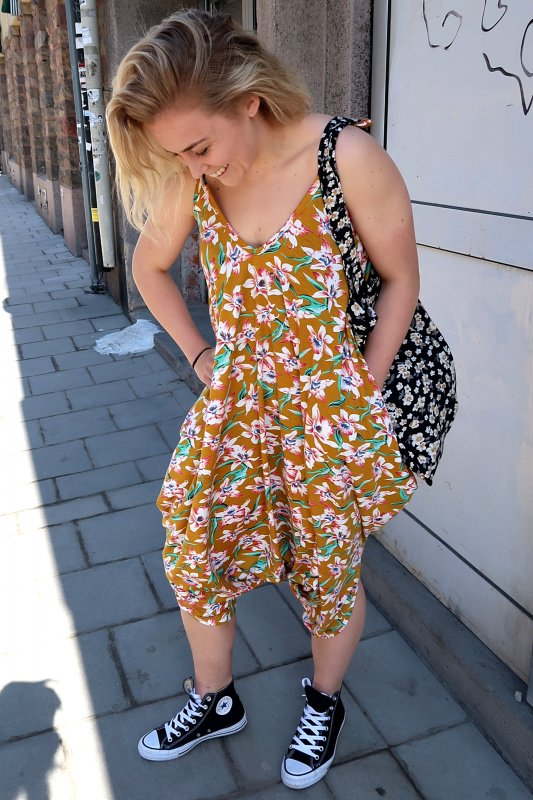 Classic Jumpsuit Flower Yellow Base