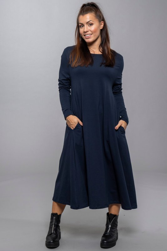 Isabell Longsleve Dress Navy