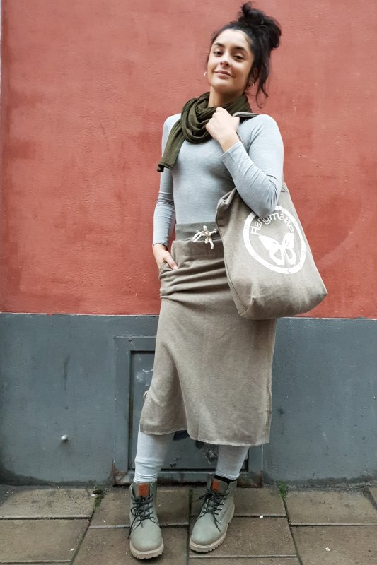 Sweat Skirt Long Army Green+Cozy Bag