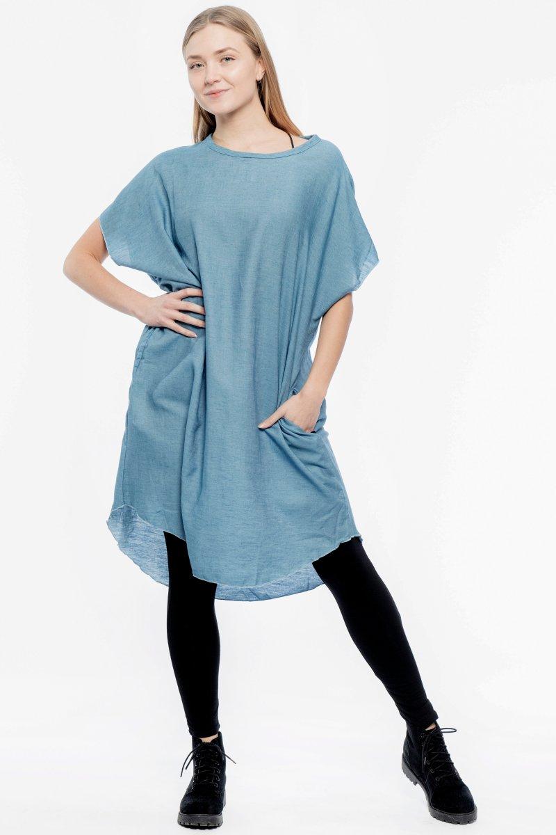 cf060dc15d Kaftan Denim Dress Original Blue - Hangmatta.com