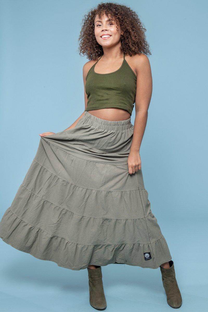 1bfb223cb Boho Skirt Eco Olive - Dresses - Hangmatta.com